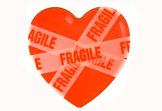 Heart. Wrapped with fragile stickers Stock Image
