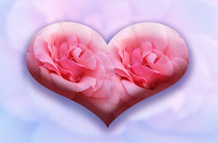 Heart on an abstract background Royalty Free Stock Images