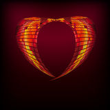 The heart abstract background. Illustration for your design Royalty Free Stock Image