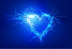 Heart. Abstract background made of Electric lighting effect Stock Photo