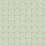 Heart abstract background seamless pattern. Vector background royalty free illustration