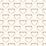 Heart abstract background seamless pattern. Royalty Free Stock Photos