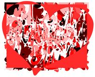 Heart on abstract background with spots. An heart on an abstract background in red tones. an idea to talk about love Stock Image