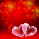 Heart. Abstract background for St. Valentines Day Stock Images