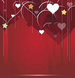 Heart abstract background Valentine day. With stars Royalty Free Stock Image