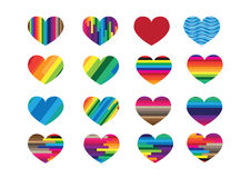 Heart abstract  icons signs Stock Photography