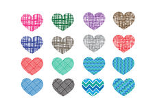 Heart abstract  icons signs Royalty Free Stock Photography