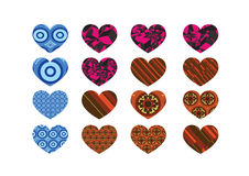 Heart abstract  icons signs Royalty Free Stock Photos