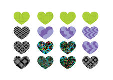 Heart abstract  icons signs Stock Images
