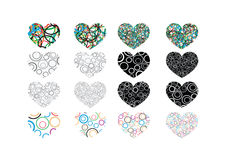 Heart abstract  icons signs Stock Photos
