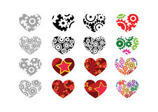 Heart abstract  icons signs Royalty Free Stock Images