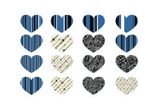 Heart abstract  icons signs Stock Image