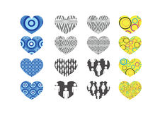 Heart abstract  icons signs Stock Photo
