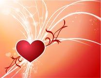 Heart on Abstract Modern Light Background. Original Illustration vector illustration