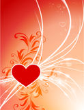 Heart on Abstract Modern Light Background. 