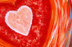Heart Abstract Painting Royalty Free Stock Images