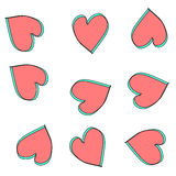 Heart abstract pattern background Royalty Free Stock Photos