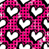Heart abstract psychedelic background graffiti grunge texture Stock Photography