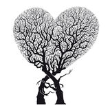 Heart Abstract Tree – Roots Woven into Heart Shape - Vector & Illustration Stock Photography