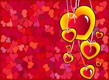 Heart abstraction Stock Images
