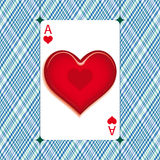 Heart on ace Stock Image