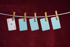 Free Heart Ace And Four Cards Stock Photography - 2493682