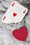 Heart and ace heart Stock Photography