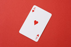 Heart ace of playing card Royalty Free Stock Photos