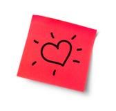 Heart adhesive note Stock Photo