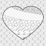 Heart adult coloring page. Royalty Free Stock Photos