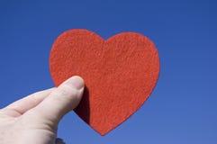 Heart against blue sky Stock Image