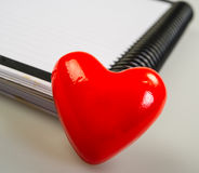 Heart and  album Stock Photography