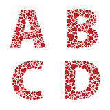 Heart Alphabet Font Royalty Free Stock Photography