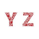 Heart Alphabet Font royalty free illustration