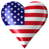 Heart with american flag Stock Photography