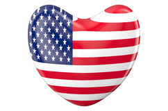 Heart with american flag Stock Images