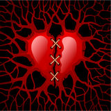 Heart after the amorous feelings Royalty Free Stock Photos