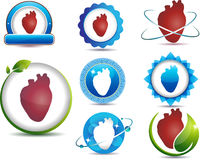 Heart anatomy symbols Royalty Free Stock Photo