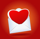 Heart And A Mailing Envelope. Stock Image