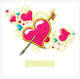 Heart And Arrow Royalty Free Stock Photography