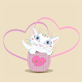 Heart And The Cat Royalty Free Stock Photography