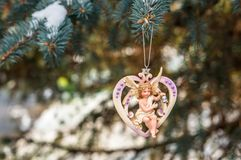Heart with angel Royalty Free Stock Photo