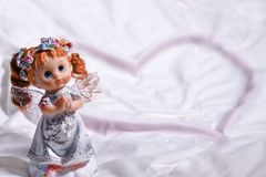 Heart of an angel of love and happiness on Saint Valentines Day Royalty Free Stock Photo