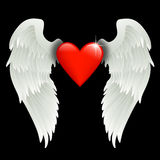 Heart with angel wings Stock Photos