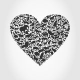 Heart animal3 Stock Images