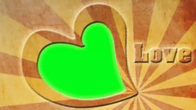 Heart animation - Photo Frame - Love, Valentines Day Greetings - green screen. You can put photos or backgrounds according to their own beliefs and ideas stock illustration