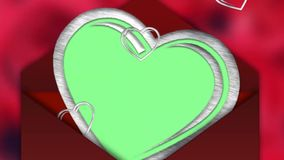Heart animation - Photo Frame - Love, Valentines Day Greetings - green screen