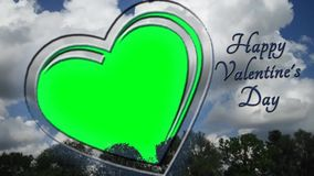 Heart animation - Photo Frame - Love, Valentines Day Greetings - green screen. You can put photos or backgrounds according to their own beliefs and ideas royalty free illustration