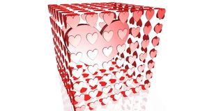 Heart animation,Valentines day. Best heart stock footage