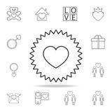 Heart appeal icon. Set of Love element icons. Premium quality graphic design. Signs, outline symbols collection icon for websites,. Web design, mobile app on Stock Photo